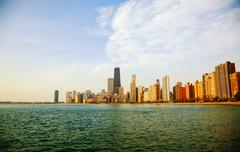 Downtown chicago, il in the morning Stock Photos