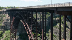 Perrine Bridge Snake River Twin Falls Idaho HD 8064 Stock Footage