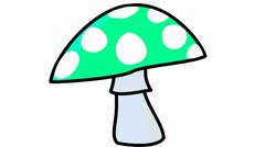 Color mushroom Stock Footage