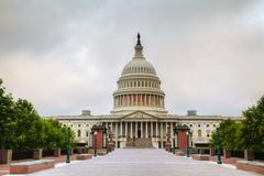united states capitol building in washington, dc - stock photo