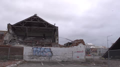 Christchurch Earthquake damage 23 Stock Footage