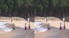 People at Beaches, Ocean, Travel, Vacation, Tourists Stock Footage