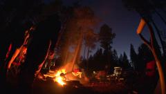 Camp Fire Time Lapse Stock Footage
