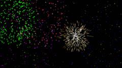 Fireworks Celebration Loop on Black Background Stock Footage
