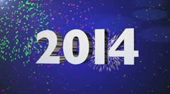 New Year 2014 Fireworks Celebration Loop Stock Footage