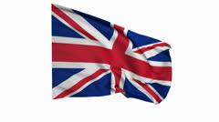 British Flag 2 Stock Footage