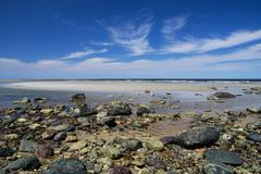 plum island beach - stock photo