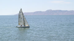 SailBoat07 - Tracking sailboat from left to right Stock Footage