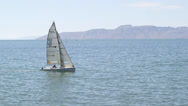 Stock Video Footage of SailBoat07 - Tracking sailboat from left to right