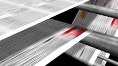 Newspaper Printing Loop Stock Footage