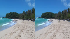Beaches, Sand, Ocean Coast, Sea Shore, 3D - stock footage