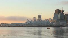 Canada Place, Coal Harbor Traffic, Vancouver Stock Footage