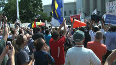 (Crowd Reaction) Gay Marriage Ruling – U.S. Supreme Court Stock Footage