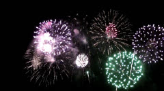 Fire works display Stock Footage