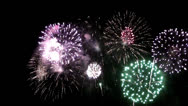 Stock Video Footage of fire works display
