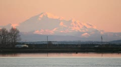 Mount Baker at Dusk Stock Footage