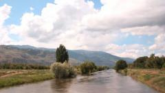 Okanagan River BC Timelapse Stock Footage
