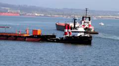 tug boat hauling - stock footage