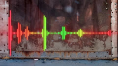 Audio Wave Grunge Graffiti Stock Footage