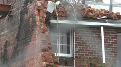 Christchurch Earthquake damage 26 - stock footage