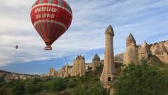 Stock Video Footage of Cappadocia Balloons