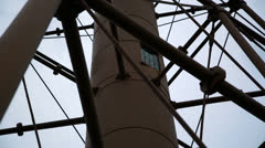 Marblehead lighthouse tilt close on structure Stock Footage