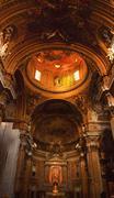 gesu jesuit church inside golden dome rome italy - stock photo