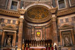 Stock Photo of altar gold icon pantheon rome italy