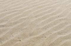 rippled sandy beach for background - stock photo