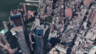 Stock Video Footage of aerial view of New york & sunlight,spectacular city landscape.