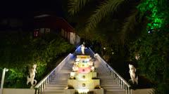 The Poseidon fountain at luxury hotel, Fethiye, Turkey Stock Footage