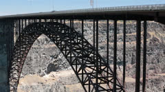 Traffic Perrine Bridge Snake River Twin Falls Idaho HD 8064 Stock Footage