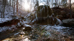 Waterfall Silver Stream Stock Footage