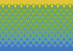 Illustrated pattern featuring stars Stock Illustration
