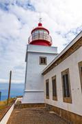 lighthouse ponta do pargo - stock photo