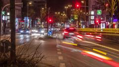 Hamburg Reeperbahn Time Lapse Stock Footage