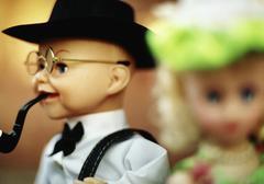 Man and woman dolls Stock Photos