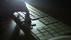 keyboard shadow 02 - stock footage