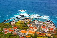 Stock Photo of natural rock pool, porto moniz, madeira