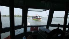 Boating through Lake Stock Footage