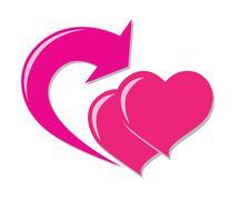 love return icon - stock illustration