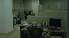 office evening - stock footage