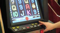 Playing poker-machines (video-poker) Stock Footage