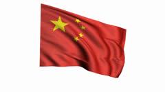 China Flag 2 Stock Footage