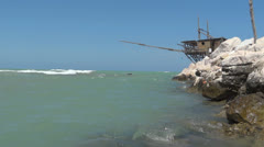 trabocco and trabocchi in italy - stock footage
