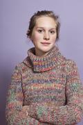Stock Photo of A serious teengirl, portrait, studio shot