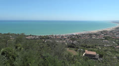 vasto, a coast of Italy - stock footage