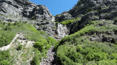 Bridal Vail Falls Provo Canyon Utah Wasatch Mountains HD 8217 Stock Footage