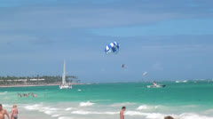 Parasailing, Paragliding, Flying Sports, Fun Stock Footage
