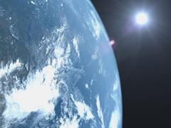 Planet earth, satellite view Stock Photos
